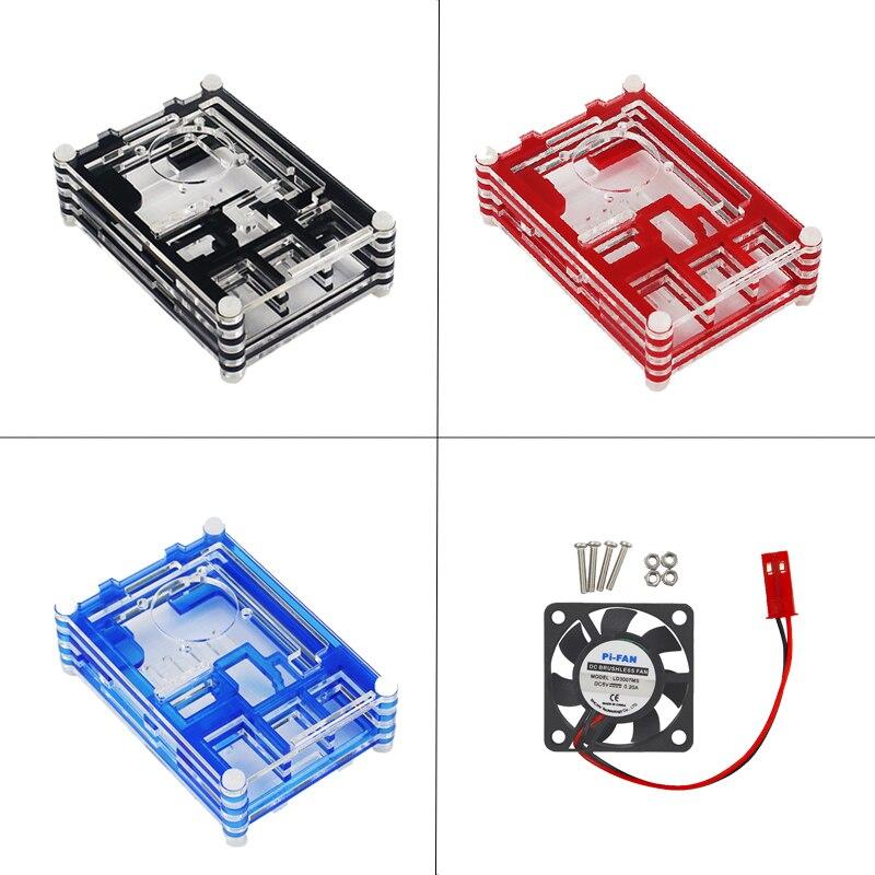 Raspberry Pi 3 Modèle B + Plus Starter Kit + 9 couche Acrylique Cas + Ventilateur + 16 32 GB SD Carte + Power Switch + HDMI + GPIO + Dissipateurs - 5