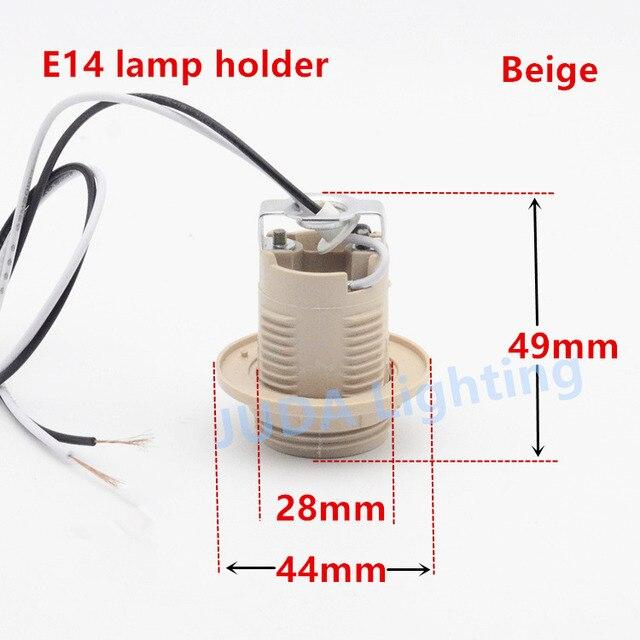 E27 E14 Socket Lamp Holder Lamp Base Bakelite Plastic Lamp Holder With Cable Wire For Chandelier Led Bulb Pendant Light Fittings Lamp Bases Aliexpress