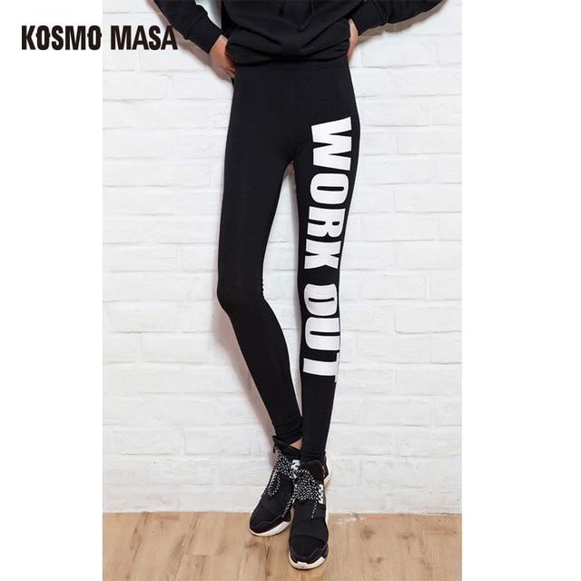 624e379100 KOSMO MASA 2017 Women Cotton Legging Pants Work out Printed Black Casual  Sexy Bottom Fitness Leggings Leggins Pantsl WL0002