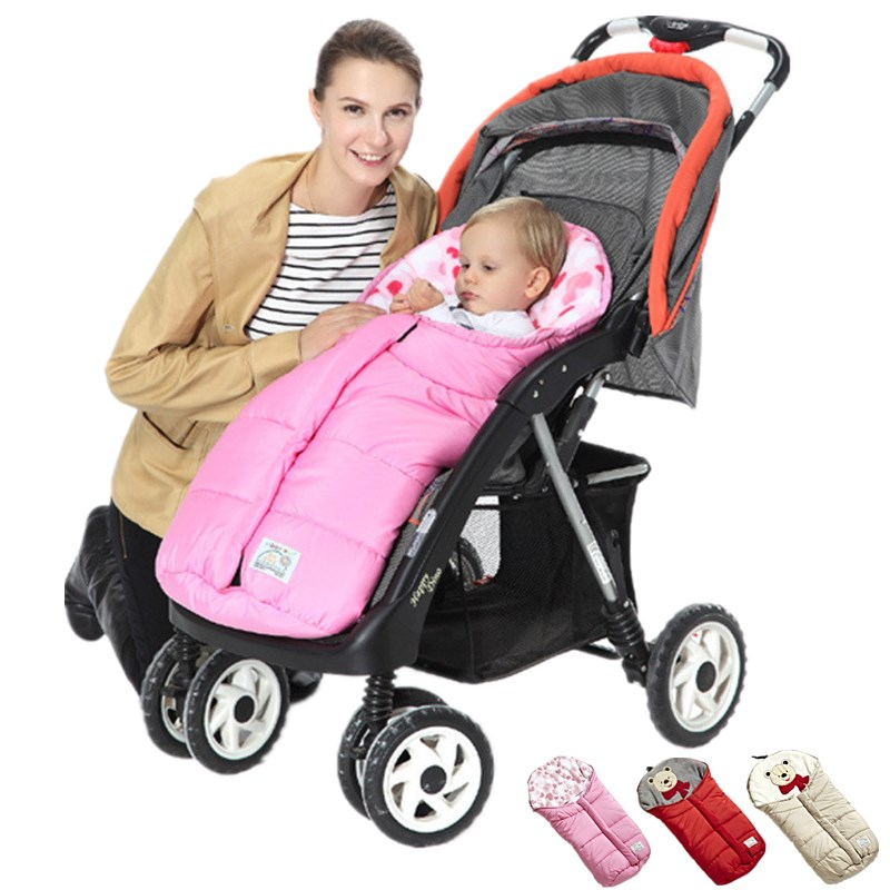 Envelope For Newborns Waterproof Baby Sleeping Bag Winter Baby Sleepsack For Stroller Cart Blanket Swaddle Infant Fleabag