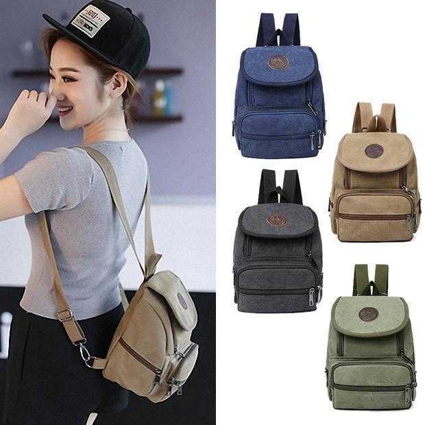 Aliexpress.com : Buy Retro Women's Small Canvas Backpack Rucksack ...