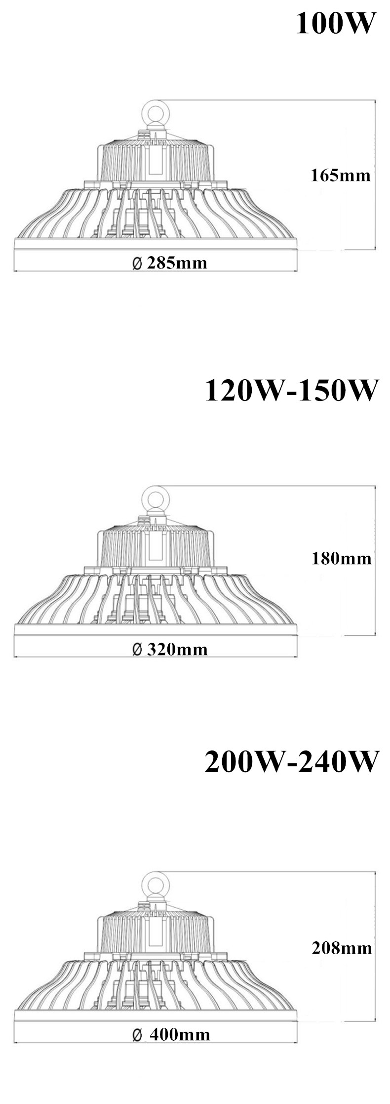 100w led high bay light__