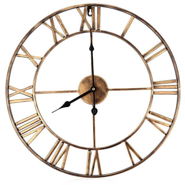 185 Inch 3d Large Iron Retro Decorative Wall Clock Big Art Gear