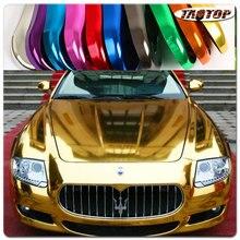 Цена по прейскуранту завода 1,52x30 м 60 ''X 1181'' безвоздушные пузырьки зеркало хром обертывание золотой автомобиль винил обертывание стикер