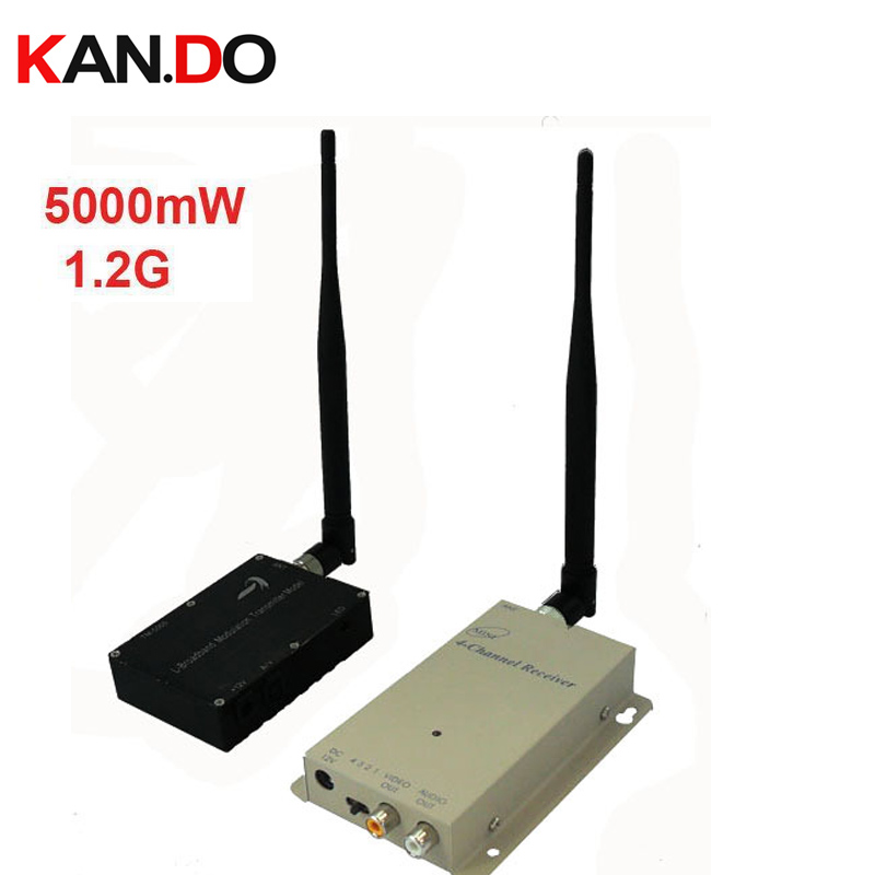 5W New &Made in Taiwan 1.2G Wireless transceiver 1.2G Video Audio drone Transmitter Receiver,1.2G transmitter for FPV made in taiwan 5000mw new cctv transmitter 1 2g wireless transceiver 1 2g video audio transmitter receiver cctv fpv transmitter