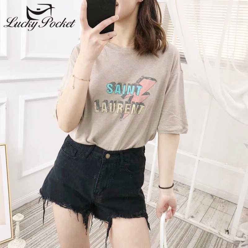7726fd3300 Laipelar Short sleeved T shirt 2018 New pattern loose and ...