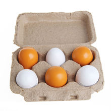 1Set/6pcs Wooden Eggs Yolk Pretend Play Kitchen Food Cooking Kid Child Toy Gift Set Gift New new 6pcs wooden eggs yolk pretend play kitchen food cooking kid child toy gift set