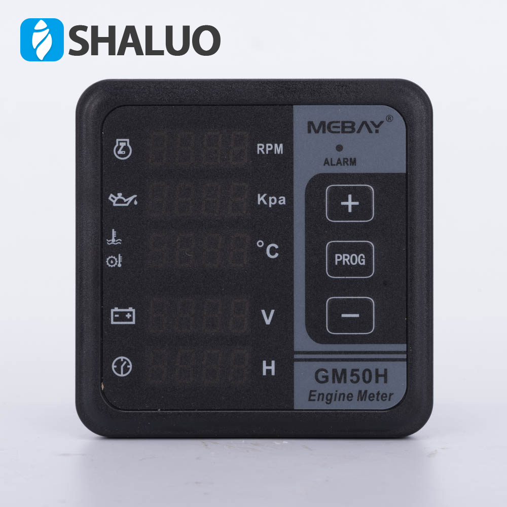 Multi function digital meter GM50H engine meter 2pcs lot digital network multi meter