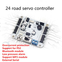 24 Channels Servo Control Board Supports PS2 Bluetooth MP3 Module Robot Motherboard For DIY Robot Arm