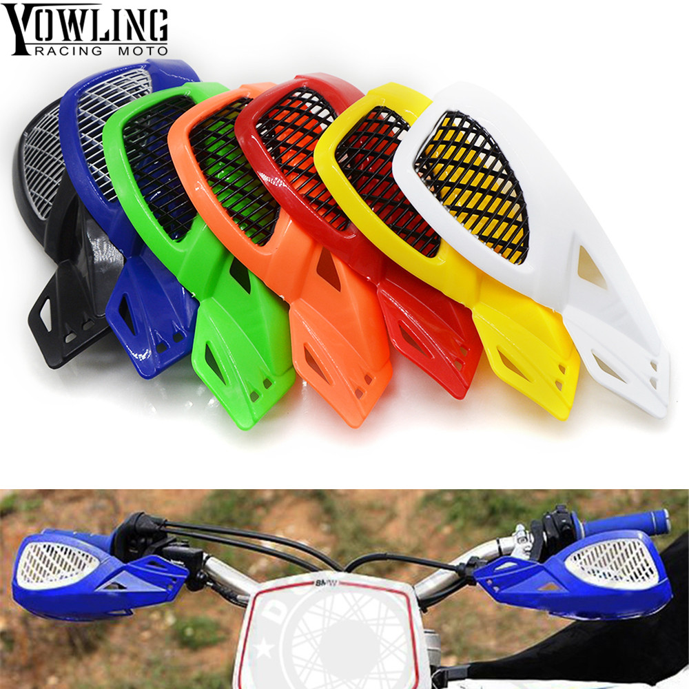 1 Pair Left and Right Universal Motorcycle Handguards with LED Light Hand Guards Protectors Motorbike for ATV Dirtbike MX 7//8 black 22mm Handlebar