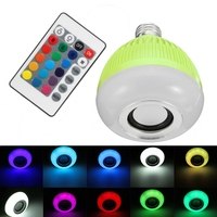 Best Price 12W LED Lamp Bulb E27 RGB Wireless Bluetooth Speaker Bulb Music Playing 16 Color LED Light Bulb With Remote Control