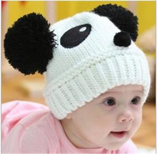 1pcs 2016 New fashion Colorful Lovely Animal Panda Hats, Caps Kids Boy Girl Crochet Beanie Hats,Panda Cap Hat Beanie
