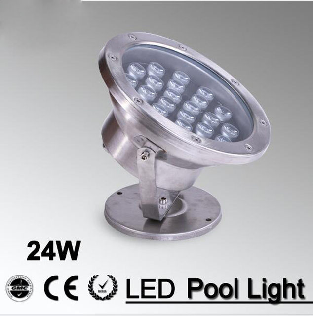 5pcs/lot Swiming Underwater Lights For Ponds Outdoor Light 24w Warm White RGB Led Swimming Pool Fountain Lighting DC12V Ip68
