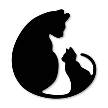 Ufurty металл ремесло Два кота рамки Вырубные штампы для скрапбукинга/DIY Рождество Свадьба Хэллоуин поздравительные открытки