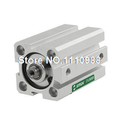 1.0Mpa Pressure 20mm Bore 30mm Stroke Thin Compact Air Cylinder