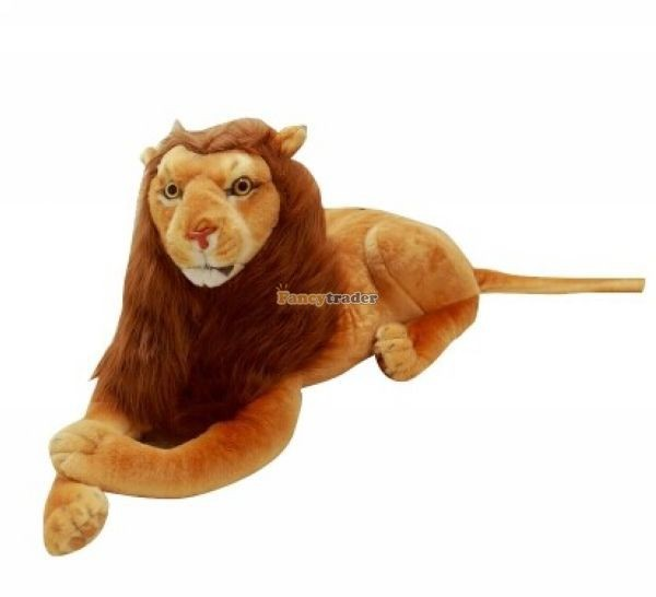 Fancytrader Rare Item! 49\'\' 125cm Emulational Plush Jumbo Soft Stuffed The Lion King Simba, Free Shipping FT50176 (1)