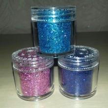 10ML Mix Holographic Nail Glitter 1 Box Laser Holo Sequins Paillettes + Powder Dust for Art Decor #FMA01#