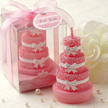creative Smokeless scented Rose Cake Candle for romantic wedding party gifts Children baby Birthday Party cake decorated candles