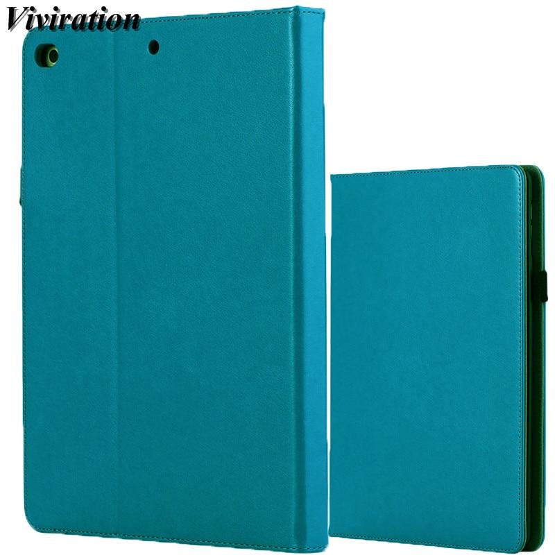 Viviration Solid Green Champagne Black Faux Leather Cover For iPad 5iPad 6iPad 8iPad Air 2 Case For iPad AiriPad 9.7 2017