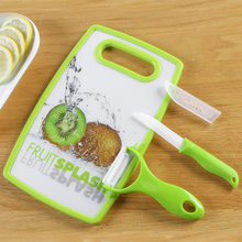 BF040 Fruit knife 3pcs/set multifunctional peeler kitchen household peeler fruit planing chopping board ceramic knife 25*16*1cm стоимость