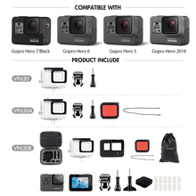 Waterproof Protection Housing Case Diving and Accessories For GoPro Hero