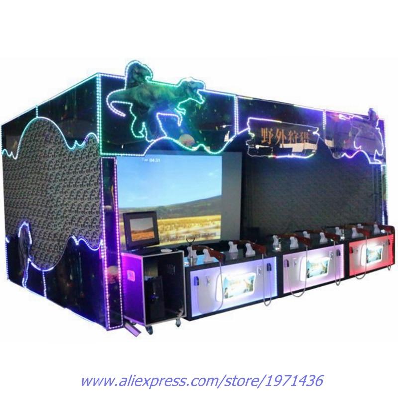 Big Coin Operated Amusement Equipment Curtain font b Arcade b font Video Games VR Simulator Hunting