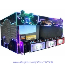 Big Coin Operated Amusement Equipment Curtain Arcade Video Games VR Simulator Hunting Shooting Game Machine