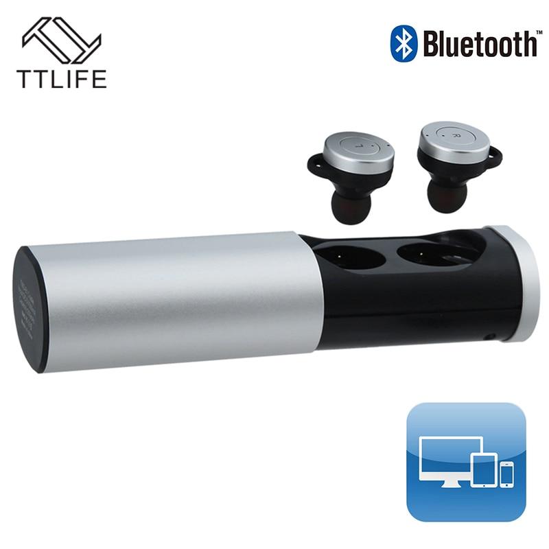Ttlife sport mini bluetooth 4.1 auricular portátil smart 500 mah banco de potenc