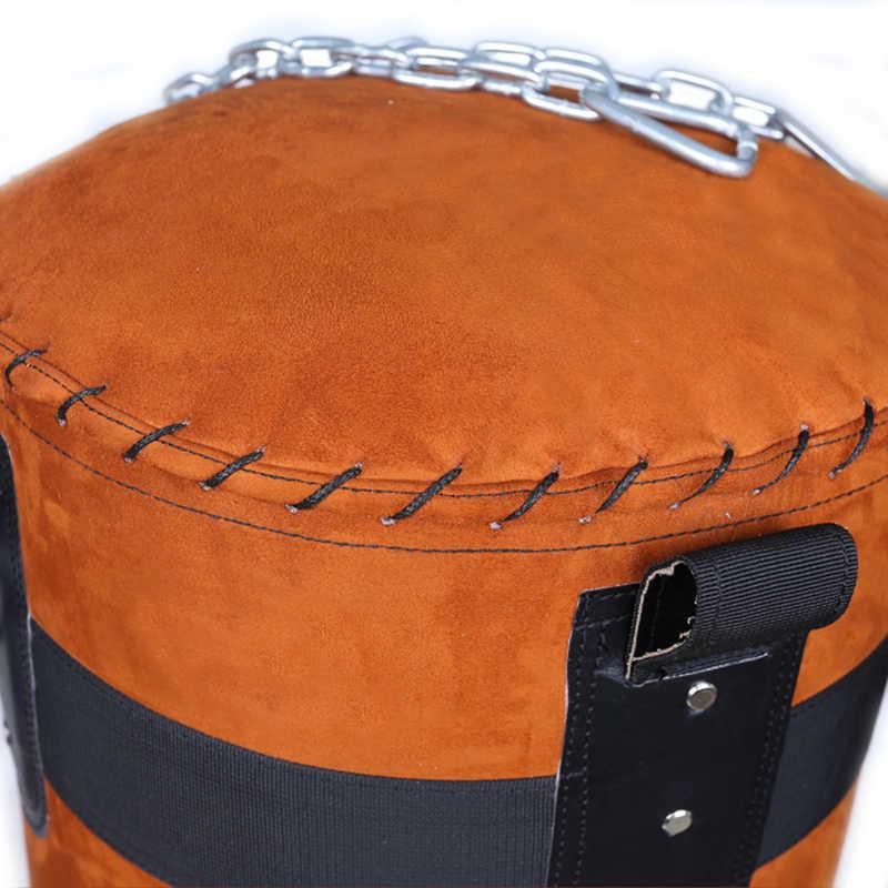 80/90/100/120 سنتيمتر بو الرمل عالية الجودة اللكم حقيبة الركل قطار الرمال الكمثرى حقيبة جلدية الجلد المدبوغ حقيبة ملاكمة داخلي الرياضة Earthbag