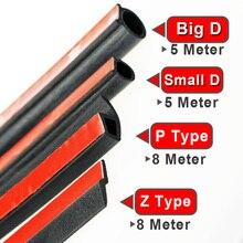 P (8M)+BigD 5(M)+Small D 5(M) + Z 8(M) Rubber Seals SetFillers car noise insulation for car door car Trunk Hood Sound Insulation