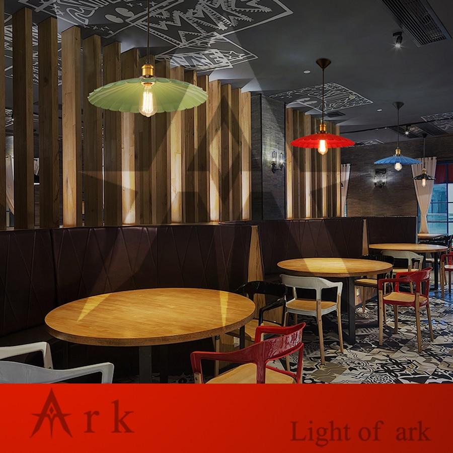 ark light iron dia 42cm pendant light american old furniture nostalgic vintage for balcony aisle hallway dining room