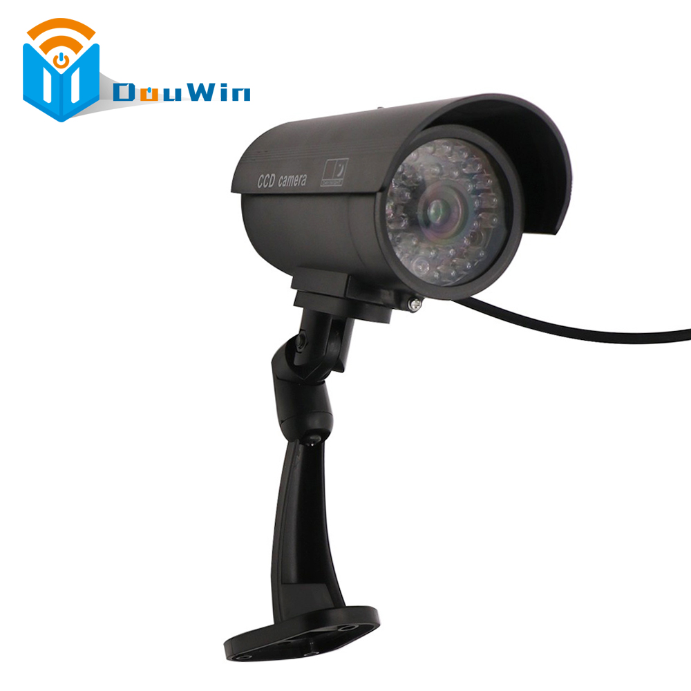Fake Dummy Imitation CCTV Security Camera Security Outdoor Indoor with Blinking Flashing Light Bullet Shape Home Camera waterproof dummy cctv camera with flashing led for outdoor or indoor realistic looking fake camera for security