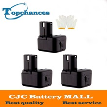 New 3PCS 12V Ni-MH 3.0Ah Replacement Power Tool Battery forHitachi EB1212S EB1214L EB1214S EB1222HL EB1230X EB1220BL 322629
