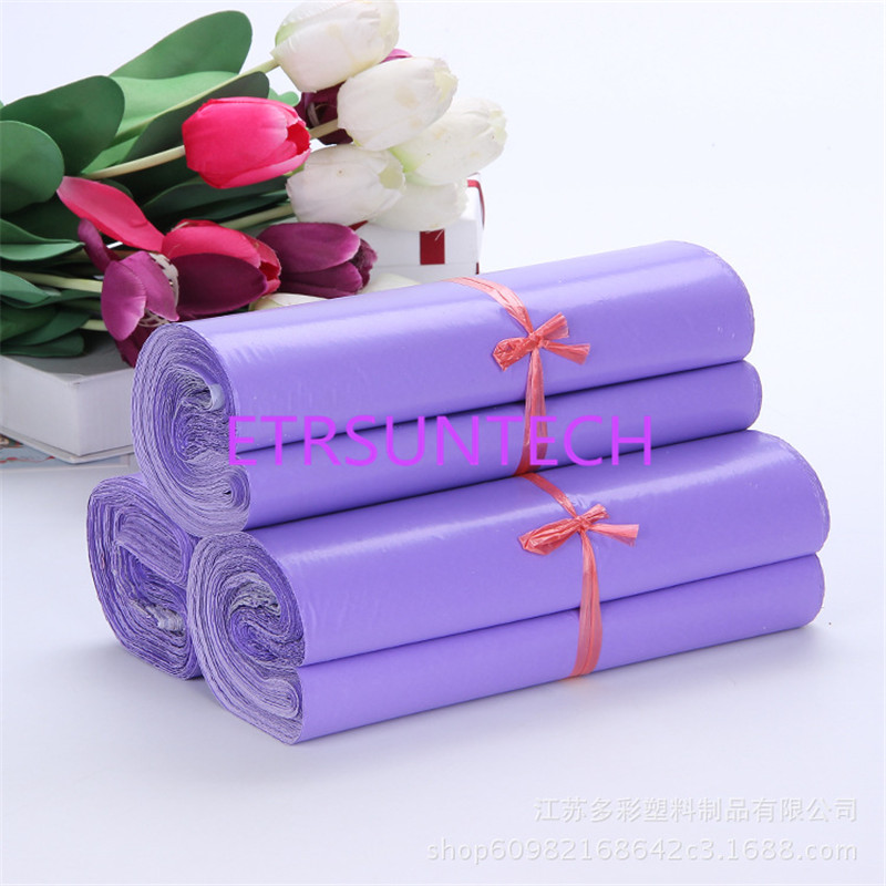 300pcs/lot <font><b>Large</b></font> size purple Mailing Bags Plastic <font><b>Mailers</b></font> <font><b>bubbles</b></font> Bag Poly Mailing Courier Envelope Express bag image