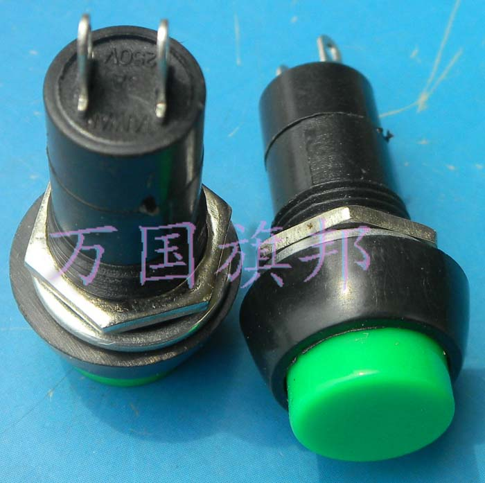 product Free Delivery. Push button switch 12 mm green don't lock button switch mounting holes PBS - 11 b