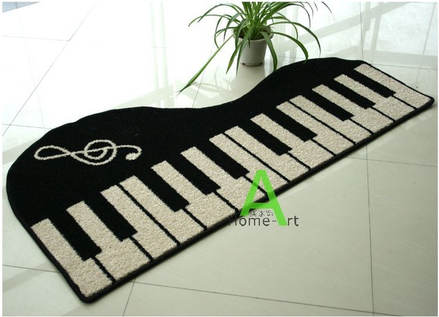 black and white piano pattern carpet for living room modern rug