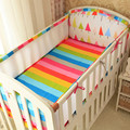 Summer Mesh Cot Bumper Cotton Printing Around Baby Bed Bumper Bedding  Collision proof Sandwich  Breathable Crib Bedding