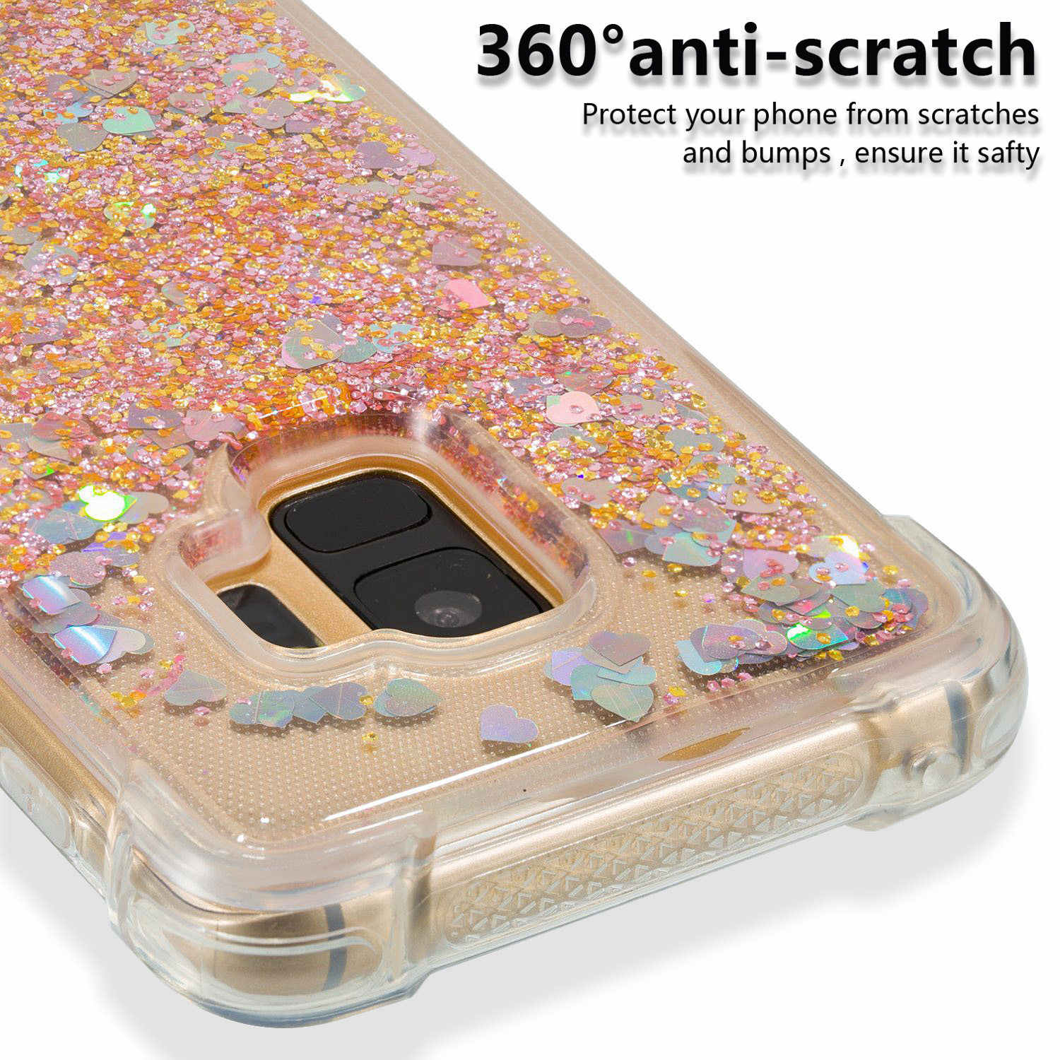 Highly translucent shatter-resistant mobile phone protection case suitable for Samsung galaxy S9  cover telephone