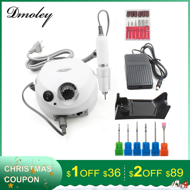 35000RPM Pro Electric Nail Drill Machine With New Version Silicone Case Anti-scald Handle Manicure Machine File Kit Nail tools