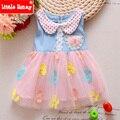 1-4 Years Toddler Girl Clothing Girls Clothes Summer 2017 new Children Kids Girls Denim Dress Dresses Jeans Hello Kitty T571