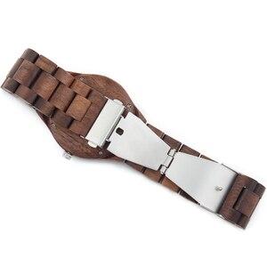 Image 5 - 2018 Mens Walnut Holz Uhren casual Quarz Armbanduhr Volle Natürliche Holz uhr Männlichen Uhren Mode Männer Armreif Armbanduhr