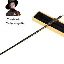 Metal/Iron Core Minerva McGonagal Old Wand/ Harri Potter Magic Magical Wand/ Elegant Ribbon Gift Box Packing
