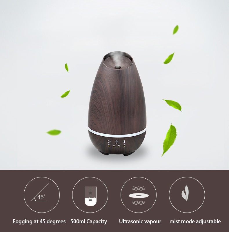 Essential Oil Diffuser Ultrasonic Aromatherapy Diffuser With 7 Color LED Lights For Home Aroma Humidifier Night Lights