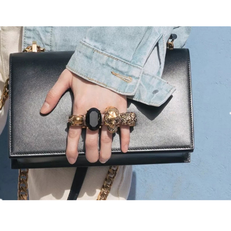 Fashion Superstar Show Women Handbags Skull Diamond Designer Clutch Women Leather Chain Shoulder Bag Luxury Brand