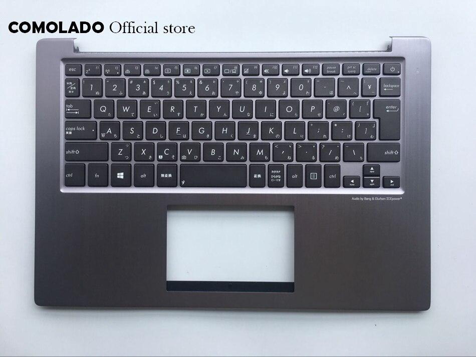 JP clavier japonais pour ASUS U38 U38DT couvercle supérieur boîtier supérieur repose-main gris clavier JP mise en page