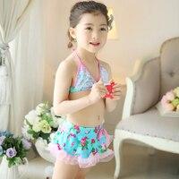 2016 yeni ücretsiz kargo bebek kız bikini Sevimli bebek küçük kızlar dize Bikini mayo mayo