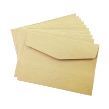 100PCS/lot  simple Kraft paper envelope 160*110mm gift wedding envelopes Window card