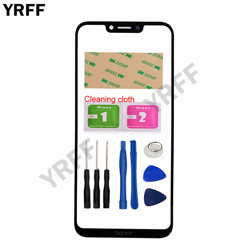 YRFF 6.3'' Honor Play Mobile Touch Screen Outer Glass For Huawei Honor Play Front Glass Panel Replacement