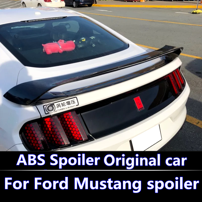 For Ford Mustang spoiler High hardness and quality ABS material rear trunk wing spoiler for 2015-2017 Ford Mustang GT spoiler цена 2017