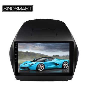 SINOSMART 2.5D IPS/QLED Screen 1G/2G GPS Navigation Player for Hyundai Tucson IX35 2009-2017, 32EQ DSP, 4GRAM Optional
